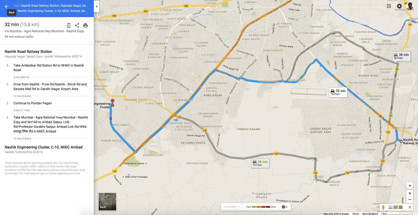 Pune Nashik Map