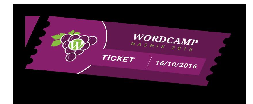 WordCamp Nashik 2016 Ticket