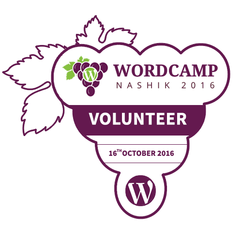 I'm a Volunteer at WordCamp Nashik 2016